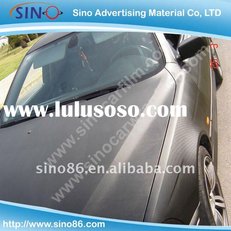 High quality Air free Matt black 3D carbon fiber sticker vinyl film for car wrapping