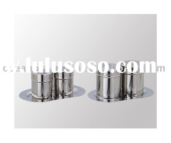High quality stainless steel salt and pepper shaker set