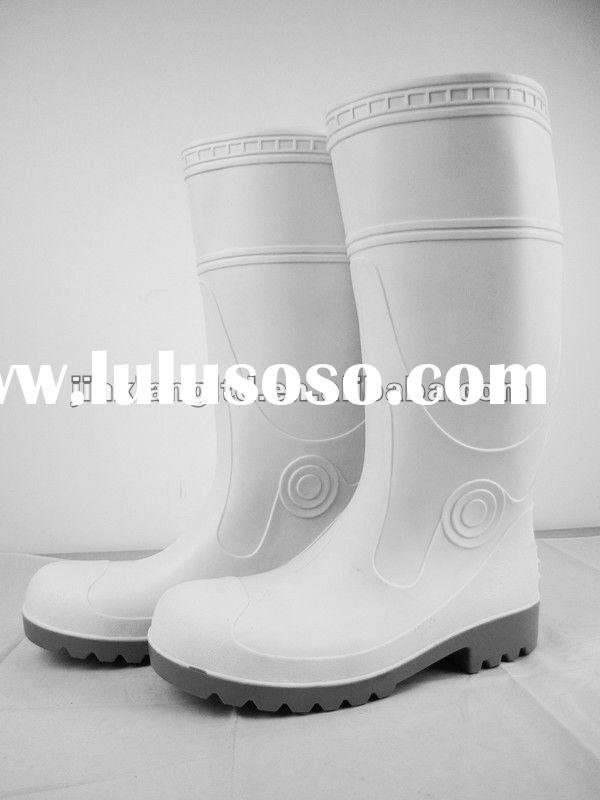 Hight Elastic PVC Steel Toe Work Boot