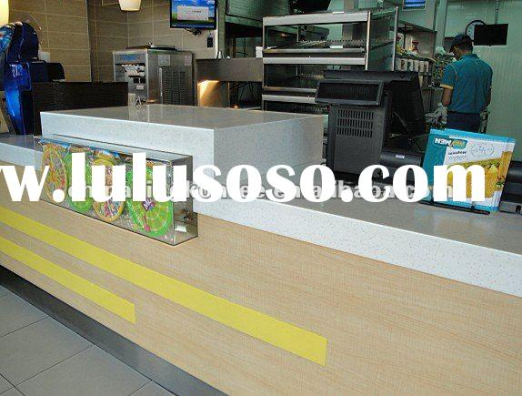 Hot corian acrylic solid surface counter tops for salon/restaurant/bar