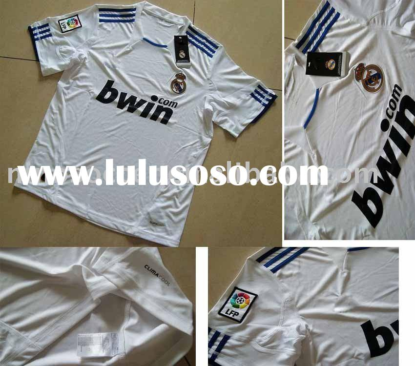 Hot sale! 2010-2011 new Real Madrid soccer jersey, TOP quality Real Madrid soccer jersey, new club f