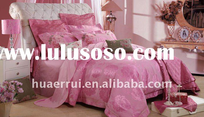 Hot sell!Cute Jacquard wedding bed sheet set/bedding set
