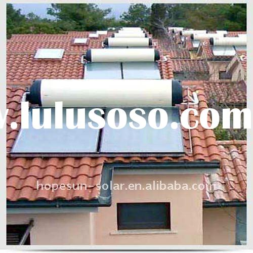 Inclined roof Mounted flat solar water heater