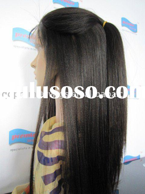Indian Remy Light Yaki Full Lace Wigs