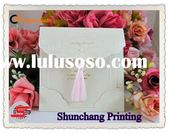 Ivory paper wedding invitation card printing