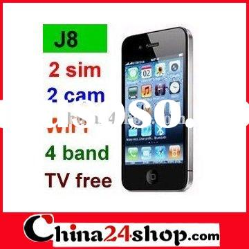 J8 3.5 inch Touch 2 Chips WIFI JAVA TV Mobile Phone