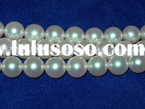 JSS-82 AAA 8-9mm freshwater round white pearl necklace