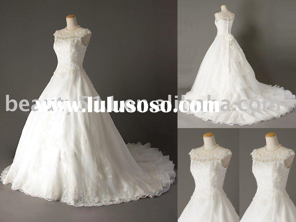 Japanese style real wedding dress bridal gown WDAH0386
