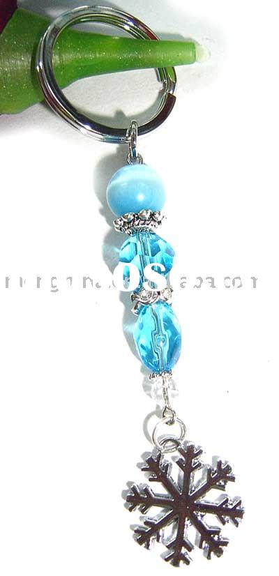 Jewelery,jewelry,Christmas Jewelry,fashion accessories.Key chain with snowflake charm-K00557