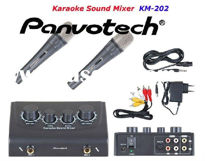 Karaoke mini sound mixer with wired microphone cheaper price manufacturer