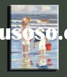 Kids seaside Landscape Painting (canvas oil paintings)