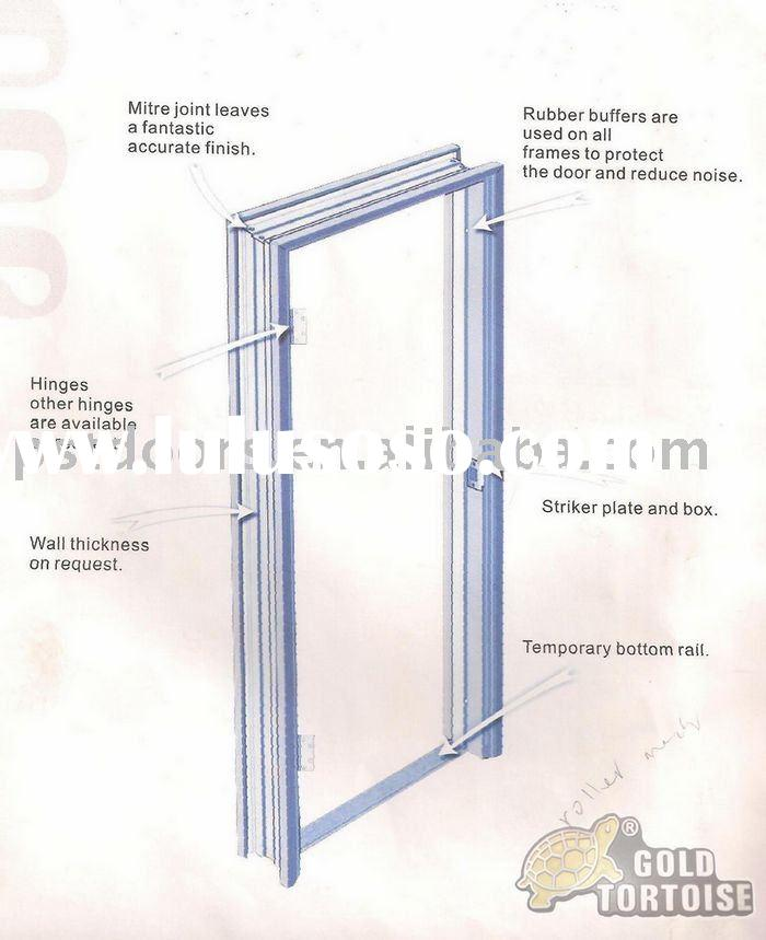 knock down packing frame with steel door knock down packing frame