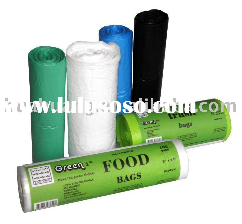 LDPE plastic garbage bags on roll