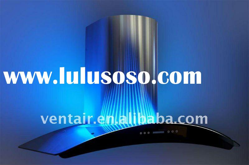 LED decorative lighting range hoods with remote control