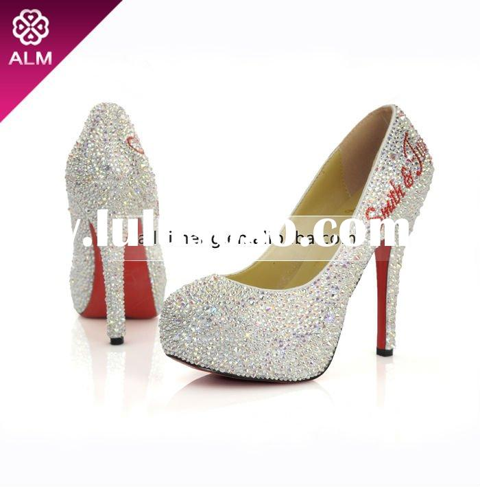 Ladies High Heel Shoes With Swarovski Crystal Paypal
