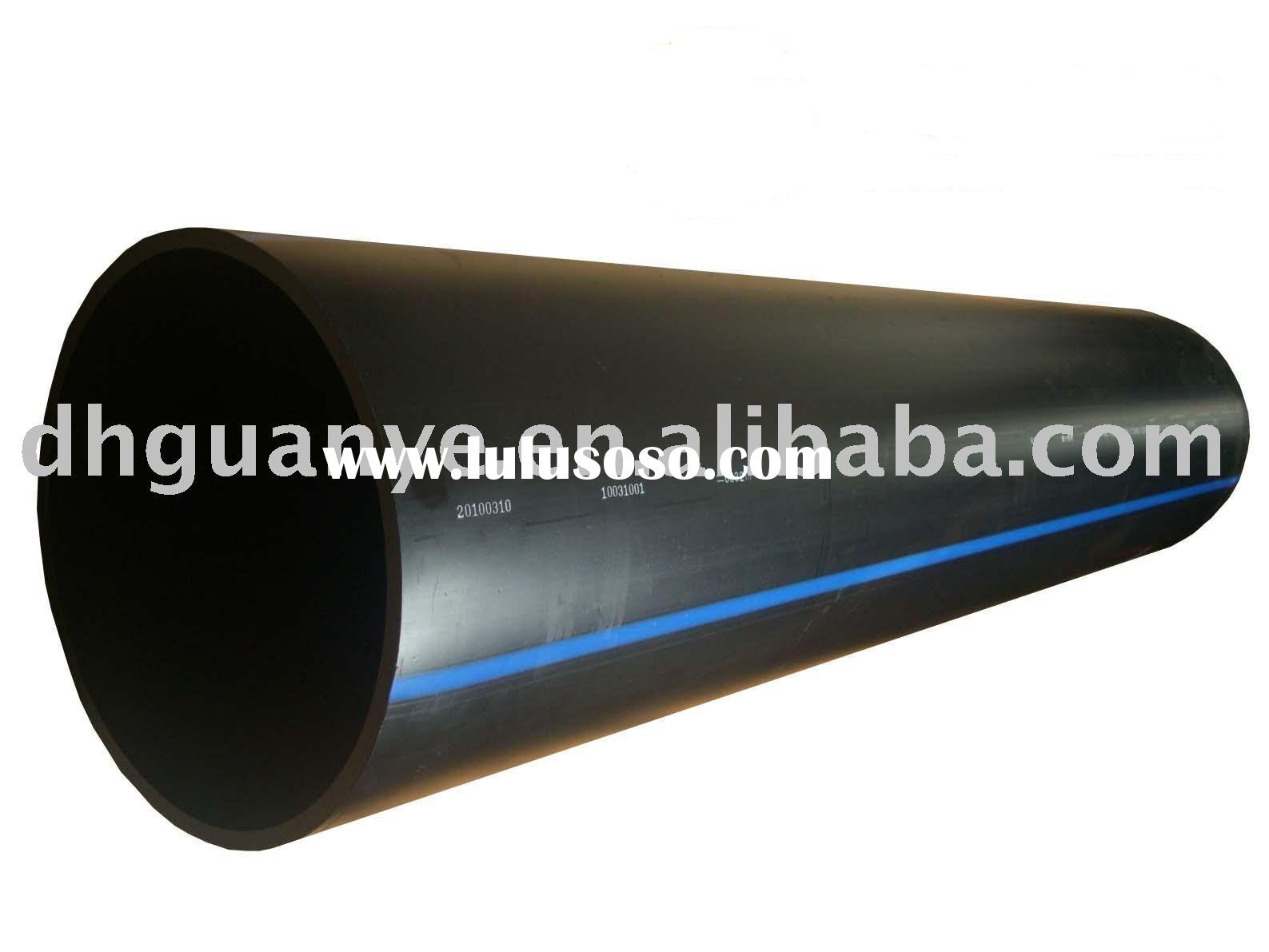 Large diameter HDPE pipe and fittings for water supply