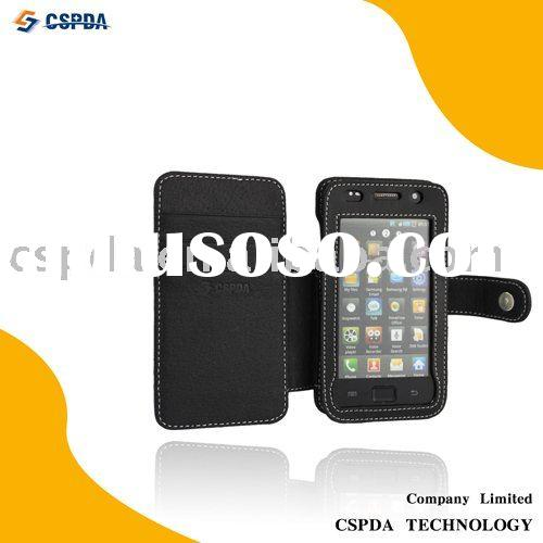 Leather Cell Phone Pouch Case for Samsung i9000