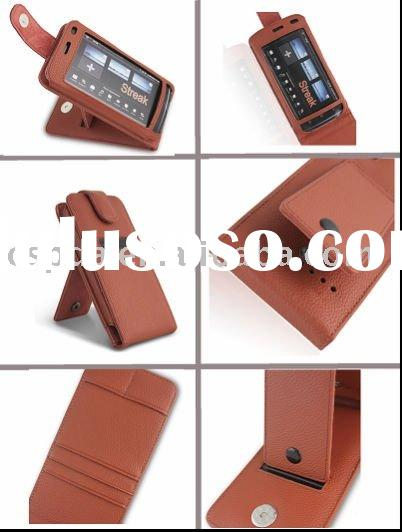 Leather cell phone case for dell streak