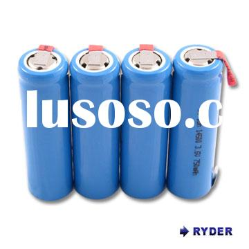 Lithium Ion14500 3.6V 750mah cylindrical AA size rechargeable batteries