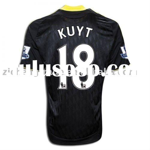 Liverpool 10/11 Away Custom Soccer Jersey Black Color In Low Price