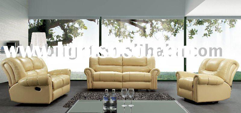 Living room furniture recliner leather sofa