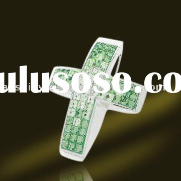 Low Wholesale Price 925 Sterling Silver Rhinestone Cross Pendants