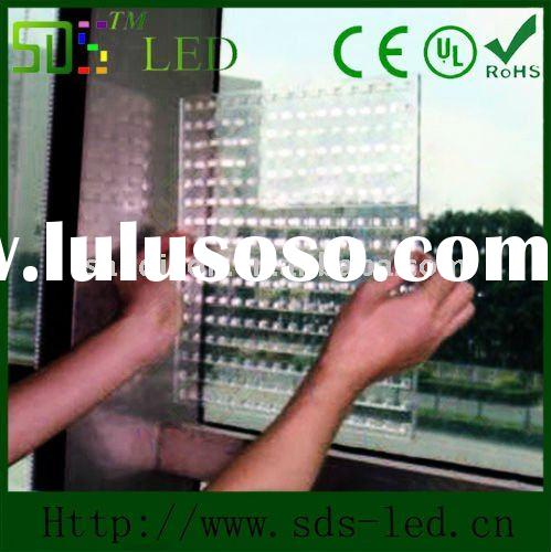 Luxury led glass led display screen wonderful for shopping mall