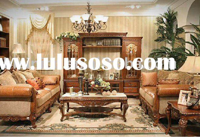 Luxury soli wood American country style living room furniture B49131