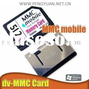 MMC mobile card (DV RS-MMC,1GB,2GB,4GB Flash)