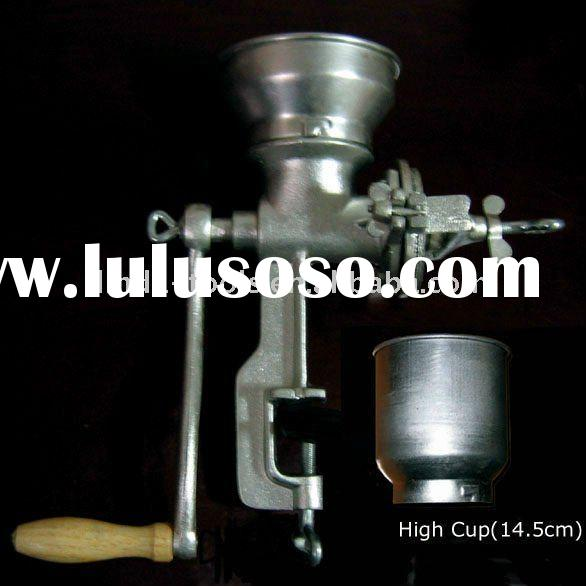 Manual cast iron grain mill with high feeder,muller,corn mill