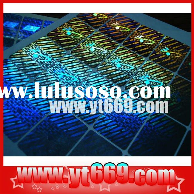 Master 3d custom holographic sticker label /Genuine Hologram label stickers /Transparent Self-adhesi