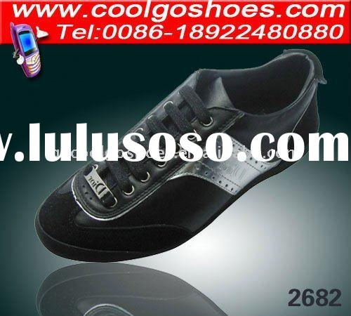 Men brand leather casual shoe