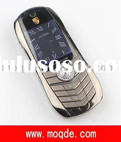 Metal Case Dual Standby Quad Band Porsche car mobile phone