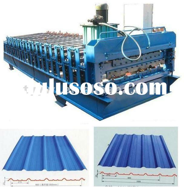Metal roofing sheet cold roll forming machine of double layer