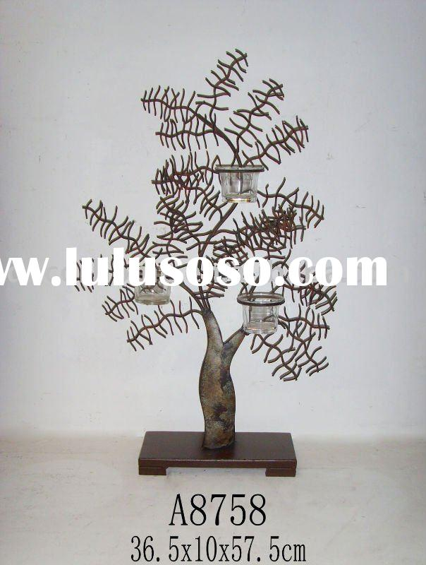 Metal tree- candle holder