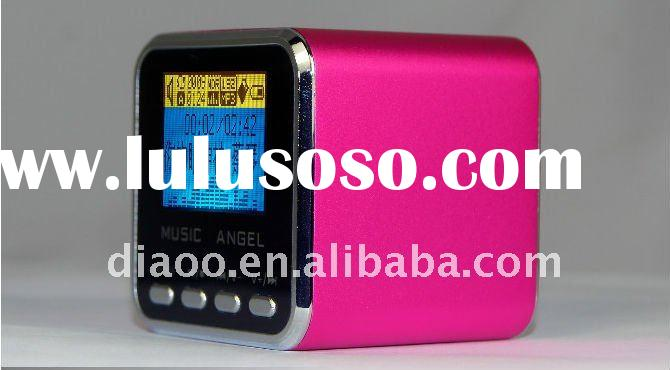 Micro SD TF Speaker with Digital Screen+FM Radio+MP3 Player