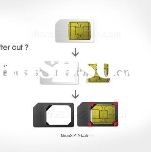 Microsim card adaptor for iPhone 4/iPad
