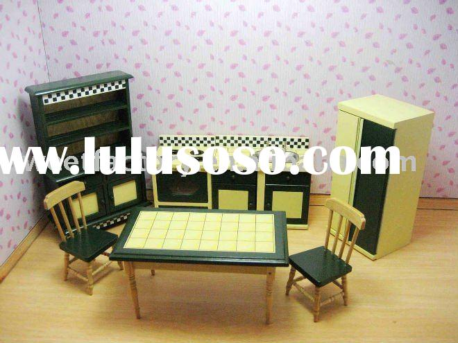 Mini Dolls House furniture- kitchen room Set