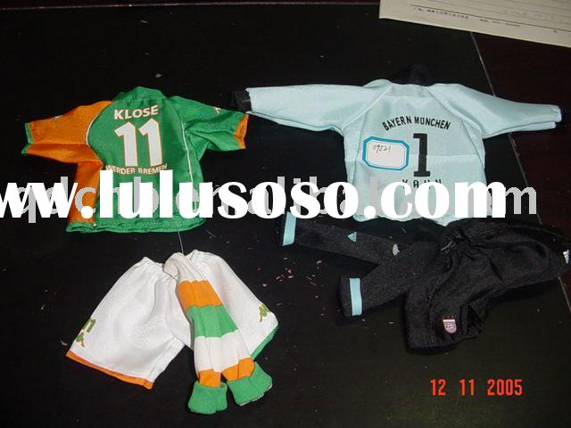 Mini Jersey Miniature Shirts and Pants Mini Sport Wear for Soccer Basketball Football Team Promotion