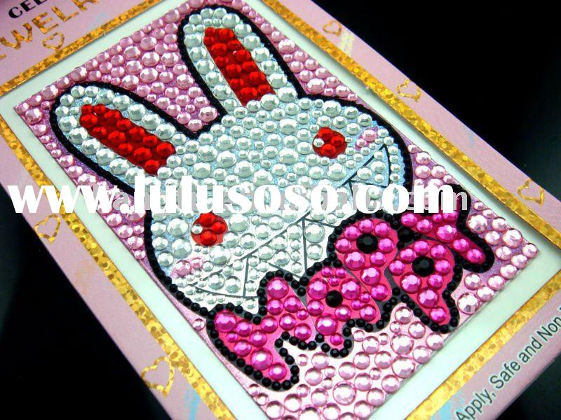 Mobile phone stickers/acrylic crystal stickers/rhinestone sticker