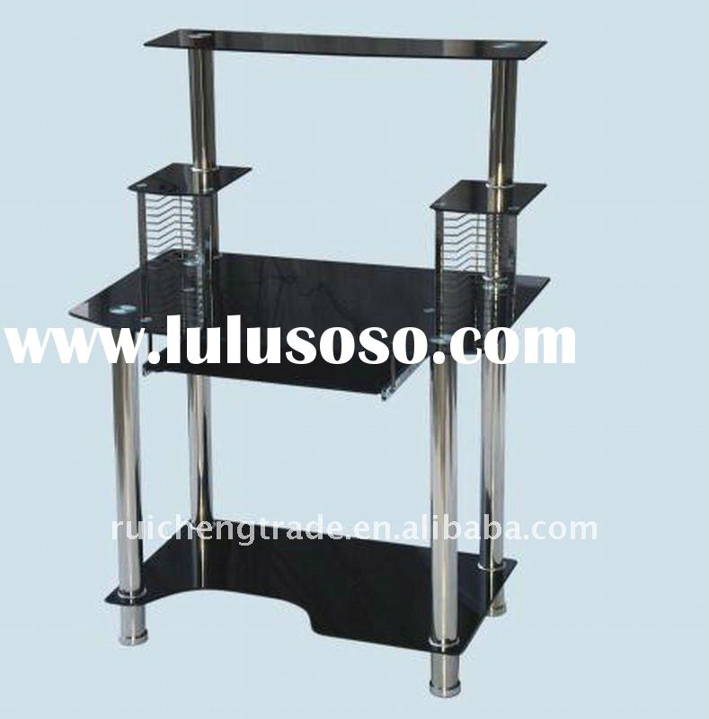 Modern / Elegant metal glass computer table desk RCT-01