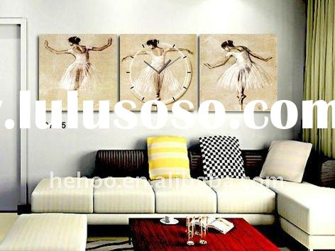 Modern painting wall clock for home decoration