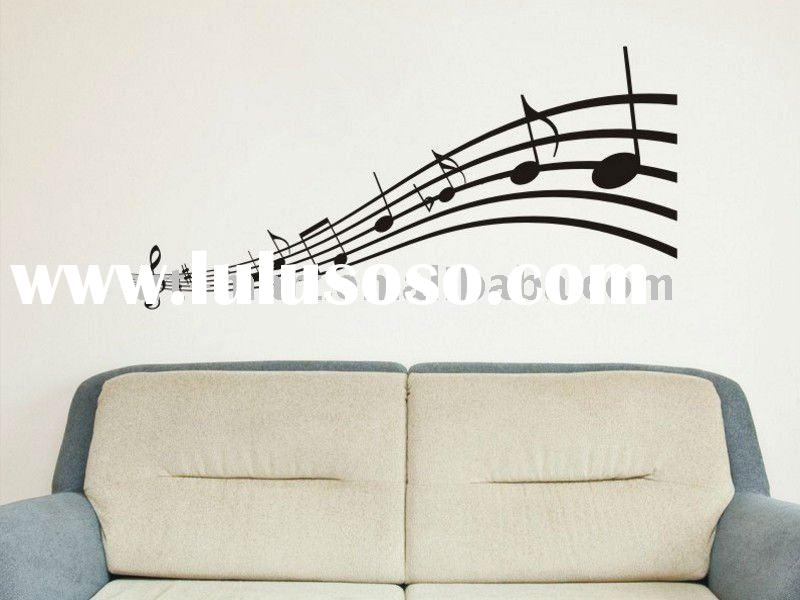 Musical Notes Wall Decal Childrens Bedroom Living Room Wall Decor