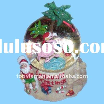 Musical flamingo water snow globe season's greetings