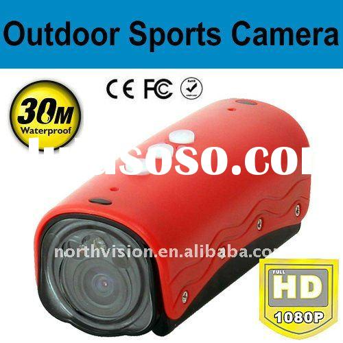 ND32II Ambarella hd 1080p helmet sport action camera with 30m waterproof and LED Light for night usi