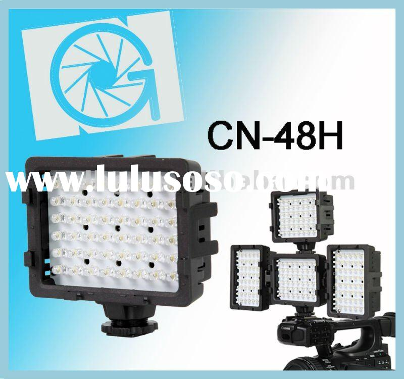 NanGuang CN-48H LED on camera light/video light, with build-up system