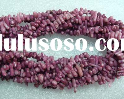 Natural purple coral beads