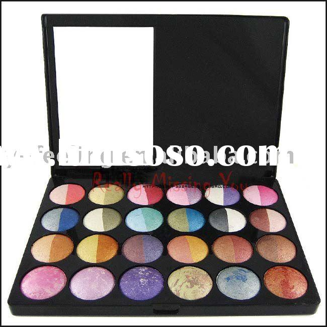 New 24 Double Color Mineral Bake Wet/Dry Make Up Eyeshadow Palette Set Hot!