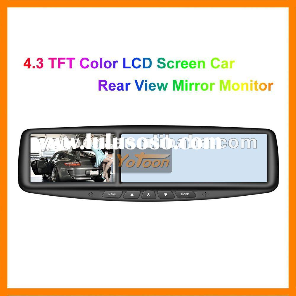 New Car Monitor, 4.3 TFT Color LCD Screen Car Rear View Mirror Monitor
