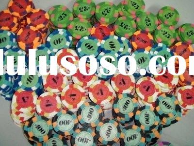 New Design Real Clay Poker Chip Set(AU-PC-N1001),clay poker chips, clay chips,casino chip set,poker